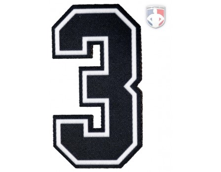 "3"" Dye Sublimated Number - Black/White/Black"