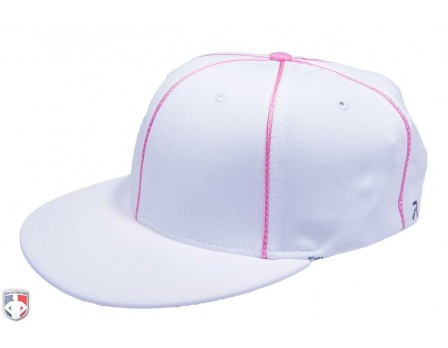 Richardson Flexfit Referee Cap - White with Pink Piping