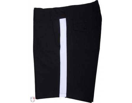 Smitty 4-Way Stretch Premium Black Football Referee Shorts with White Stripe