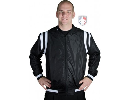 Smitty Collegiate Style Basketball Referee Jacket - Black with White Trim