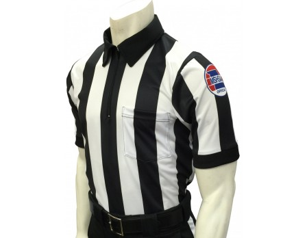 "USA137MO-FLEX Missouri (MSHSAA) 2 1/4"" Stripe Body Flex Short Sleeve Football Referee Shirt"