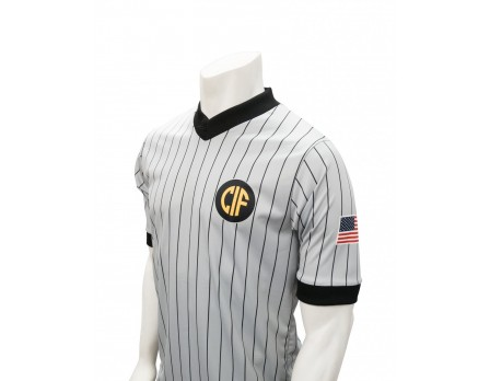 California (CIF) Grey V-Neck Short Sleeve Referee Shirt