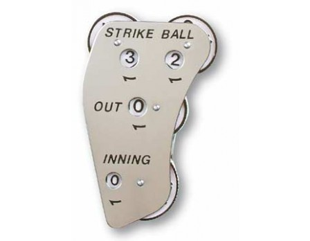 Markwort 4-Dial Stainless Steel Umpire Indicator - 4/3/3 Count