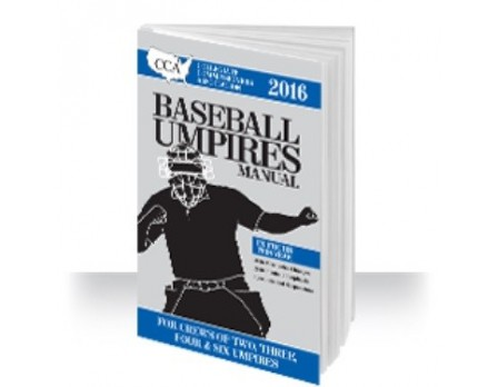 2016 CCA Baseball Umpires Manual