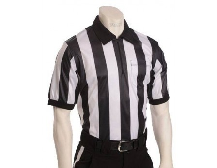 "Smitty 2"" Stripe ""Elite"" Short Sleeve Referee Shirt -  College, Arkansas and Tennessee HS Approved"