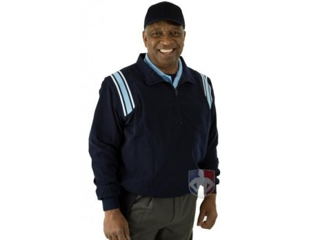 Smitty Major League Style Umpire Jacket - Navy with Powder Blue