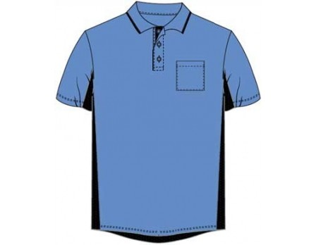 Majestic MLB Umpire Shirt - Sky Blue with Black