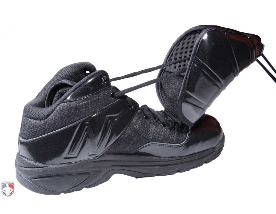Black Mid-Cut Umpire Plate Shoes