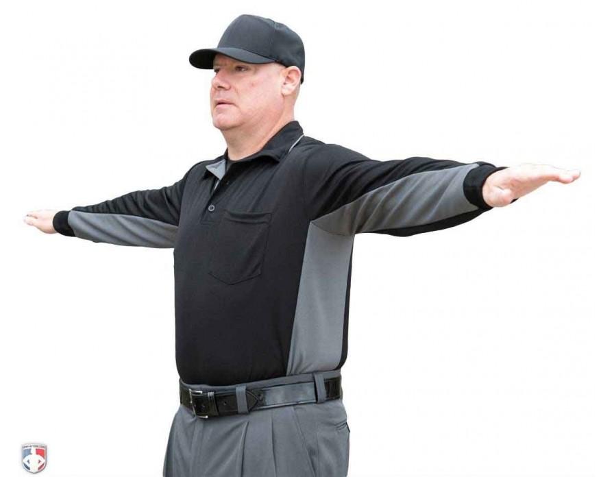 Smitty Major League Replica Long Sleeve Umpire Shirt - Black with ... 44c4a6830eaf