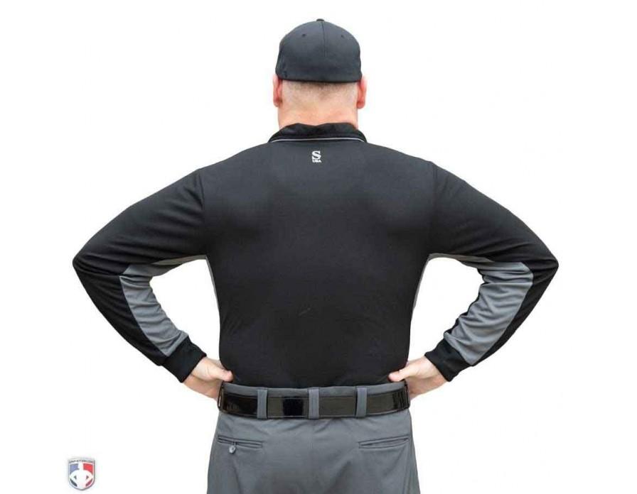 0979d9b8ac9 Read More. S313-BK with N3-SUB-WBW. S313-BK Smitty Major League Replica  Long Sleeve Umpire Shirt - Black with Charcoal Grey