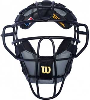 Wilson MLB Dyna-Lite Aluminum Umpire Mask with Black and Grey Wrap Around Pads