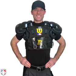 Umpire Wearing Chest Protector