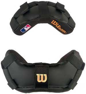 WIlson MLB Wrap Around Umpire Mask Replacement Pads - Black