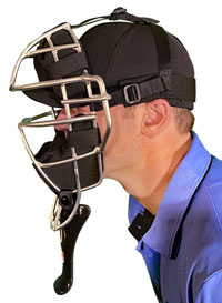 Umpire Throat Guard Side View
