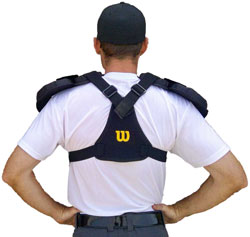 Back View of Umpire Chest Protector