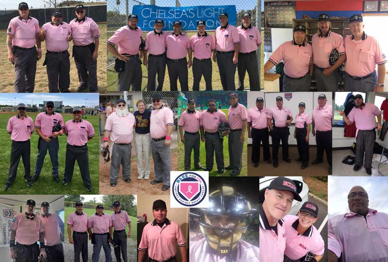 Umpires in Pink Collage