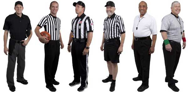 Baseball Umpire, Basketball, Football, Lacrosse, Volleyball, Wrestling Referees