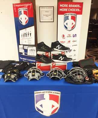 Our Booth at NCAA Umpire Clinic