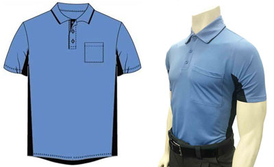 Majestic and Smitty Sky Blue Umpire Shirts