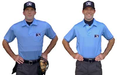 Smitty umpire shirts - sky blue
