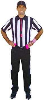 Football Referee with Pink Apparel