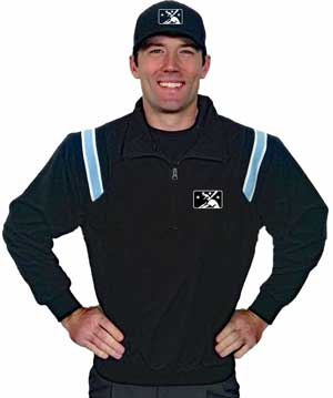Smitty Traditional Half-Zip Jacket - Black with Polo Blue