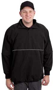 Smitty Pro-Series Convertible Umpire Jacket - Black and White