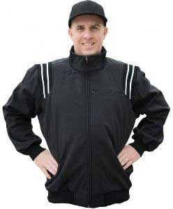 Smitty Major League Style Fleece-Lined Umpire Jacket - Black and White