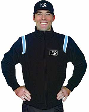 Smitty MiLB Fleece Lined Umpire Jacket - Black with Polo Blue