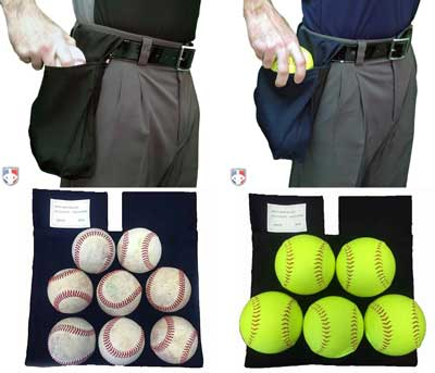 Smitty Deluxe XL Expandable Ball Bags Black and Navy In Use with Capasity