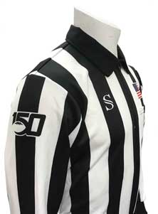 "Smitty CFO College 2"" Long Sleeve Football Referee Shirt with 150 Year Anniversary Logo"