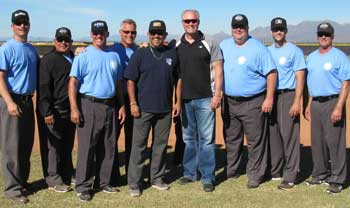 MLB UMPIRES ALFONZO MARQUEZ AND TED BARRETT AND THE UTI INSTRUCTORS