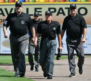 Umpires Walking on Field