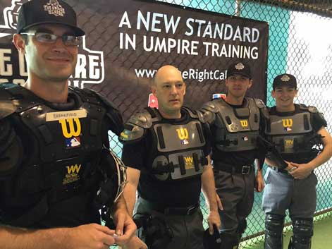 Students Wearing Wilson Umpire Chest Protectors