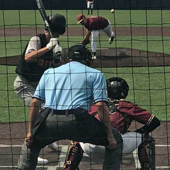 Joe Aylsworth Umpiring Behind Plate