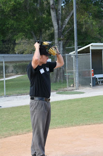 Umpire takes off mask at MiLB Umpire Training Academy
